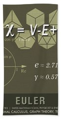Science Posters - Leonhard Euler - Mathematician, Physicist, Engineer Beach Towel