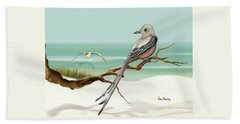 Scissor Tailed Flycatcher Beach Towel