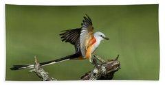 Scissor-tailed Flycatcher Beach Towel