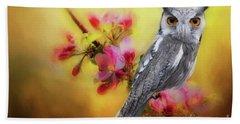 Scops Owl Beach Towel