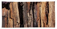 Scorched Timber Beach Towel