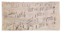 Score Sheet Of Moonlight Sonata Beach Towel