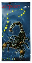 Scorpius And The Stars Beach Towel