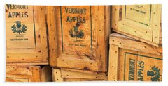 Scott Farm Apple Boxes Beach Towel