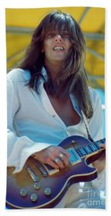 Scott Gorham Of Thin Lizzy Black Rose Tour At Day On The Green 4th Of July 1979 - 1st Color Release Beach Towel