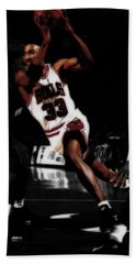 Scottie Pippen On The Move Beach Sheet