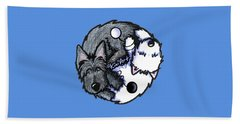 Scottie Westie Yin Yang Beach Towel