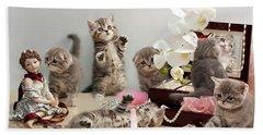 Scottish Fold Cats Beach Towel