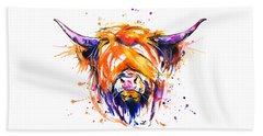 Scottish Highland Cow Beach Sheet