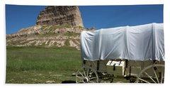 Scotts Bluff National Monument Nebraska Beach Towel