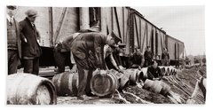 Scranton Police Dumping Beer During Prohibition  Scranton Pa 1920 To 1933 Beach Sheet