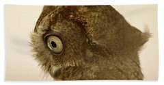 Screech Owl Beach Towel by Kathy Russell