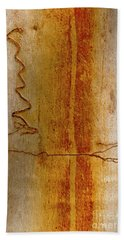 Beach Towel featuring the photograph Scribbly Gum Bark by Werner Padarin
