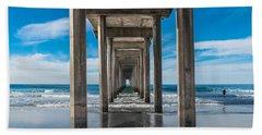 Scripps Pier La Jolla California Beach Towel