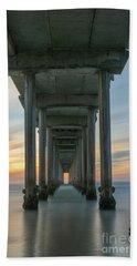 Scripps Pier Pillars  Beach Towel