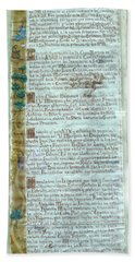 Script Of A Priest Beach Towel