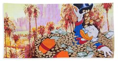 Scrooge In La Beach Sheet