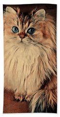 Scruffy's Portrait Beach Towel