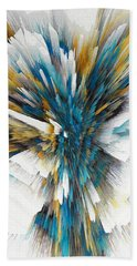 Beach Towel featuring the painting Sculptural Series Digital Painting 08.072311ex490l by Kris Haas