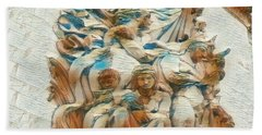 Sculpture - Paris France - Arc De Triomphe Beach Towel