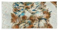 Sculpture - Paris France - Arc De Triomphe Beach Sheet