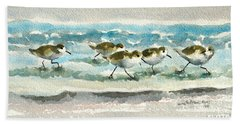 Scurrying Along The Shoreline 2  1-6-16 Beach Towel
