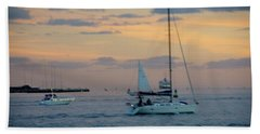 Sd Sunset 3 Beach Towel