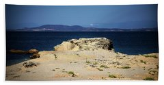 Sea And Rocks Beach Towel