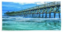 Sea Blue Cherry Grove Pier Beach Towel