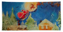 Sea Blue Christmas  Beach Towel