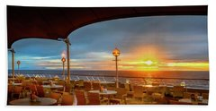 Beach Towel featuring the photograph Sea Cruise Sunrise by John Poon