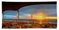 Beach Sheet featuring the photograph Sea Cruise Sunrise by John Poon