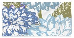 Sea Dahlias I Beach Towel