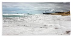 Beach Sheet featuring the photograph Sea Foam And Clouds By Kaye Menner by Kaye Menner