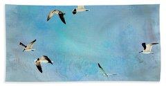 Beach Sheet featuring the photograph Sea Gulls In Flight by Athala Carole Bruckner