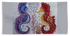 Sea Horses In Love Beach Sheet