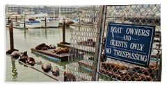 Sea Lions Take Over, San Francisco Beach Towel