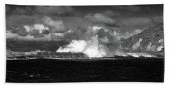 Beach Towel featuring the photograph Sea Meets Sky by Nareeta Martin