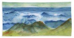 Sea Mist Beach Towel by Frank Bright