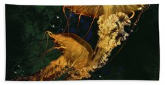 Sea Nettle Jellies Beach Sheet by Thanh Thuy Nguyen