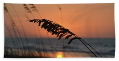 Sea Oats At Sunrise Beach Sheet by Gordon Mooneyhan