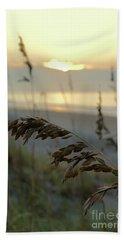 Sea Oats At Sunrise Beach Towel