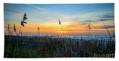 Sea Oats Sunrise Beach Towel
