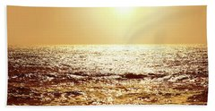 Beach Towel featuring the photograph Sea Of Diamonds by Michael Rock