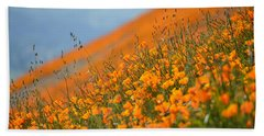 Sea Of Poppies Beach Sheet by Kyle Hanson