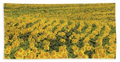 Sea Of Yellow Beach Towel