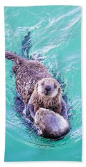 Sea Otter Pup Beach Towel