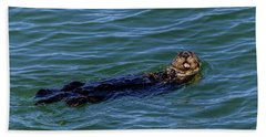 Beach Towel featuring the photograph Sea Otter by Randy Bayne