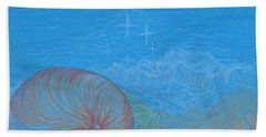 Beach Towel featuring the drawing Sea Shore by Kim Sy Ok
