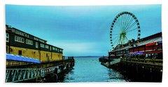 Sea Side, Seattle 2 Beach Towel